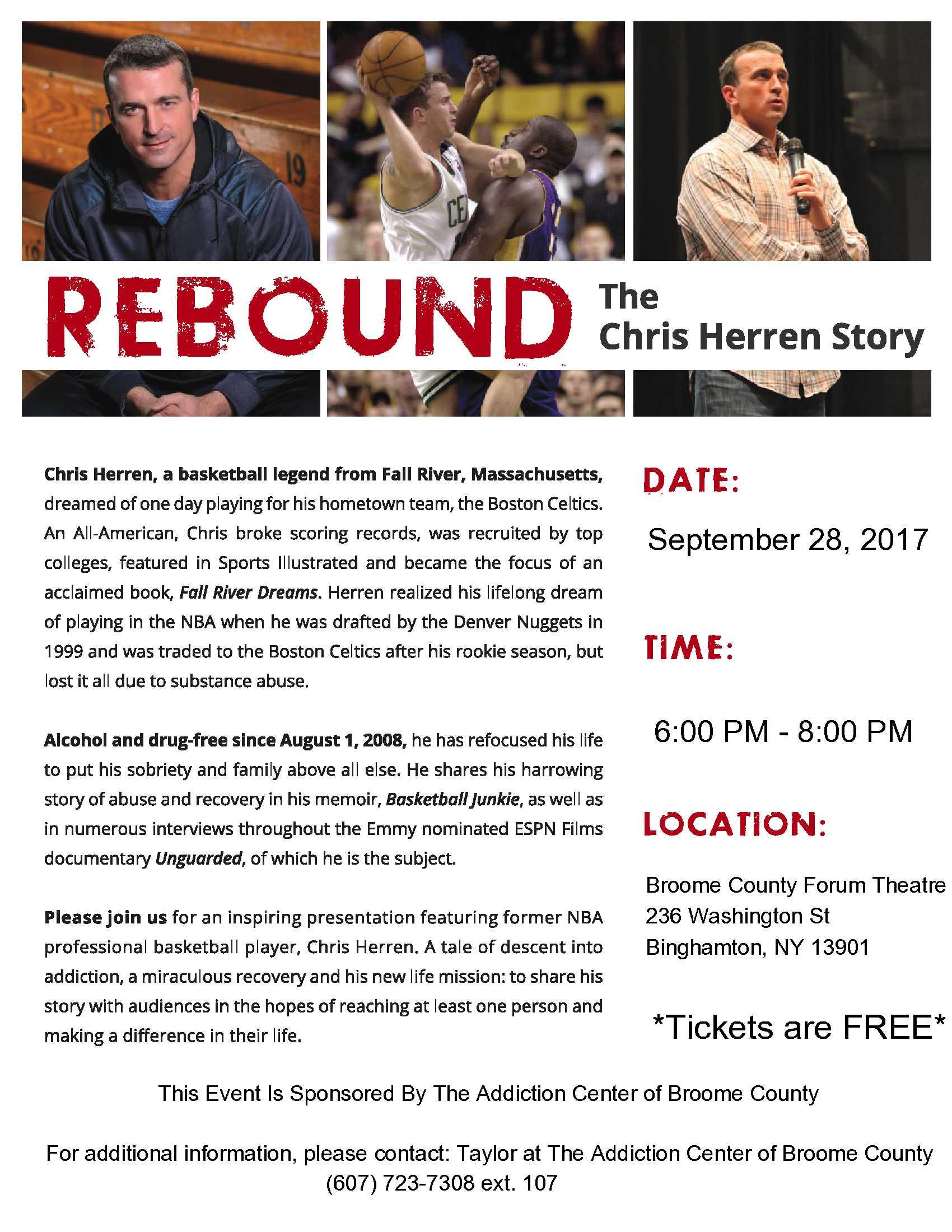 Integrative Program Training: Rebound, The Chris Herren Story – The